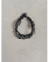 John Varvatos | Black Silver Interlock Bracelet for Men | Lyst