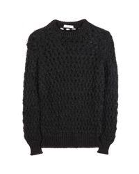 Erdem - Black Stacey Textured Openknit Sweater - Lyst