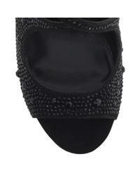 Carvela Kurt Geiger Black Gift Cut Away High Heeled Sandals