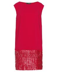 Liu Jo   Red 'microfringe' Dress   Lyst