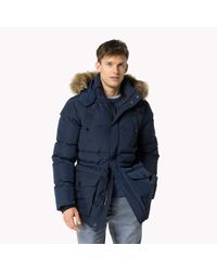 Tommy Hilfiger - Blue Down Parka for Men - Lyst