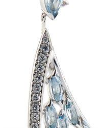 Shaun Leane | Blue Diamond, Aquamarine & White-Gold Earrings | Lyst