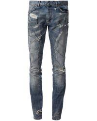 Faith Connexion | Blue Distressed Slim Jeans for Men | Lyst