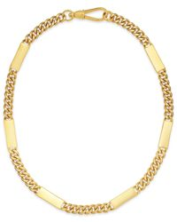 Lauren by Ralph Lauren | Metallic Gold-Tone Curb Chain Bar Necklace | Lyst