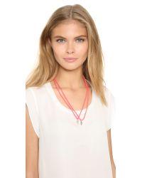 Venessa Arizaga - Pink Bffs Forever Friendship Necklace - Lyst