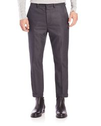 Vince - Gray City Cropped Chinos for Men - Lyst