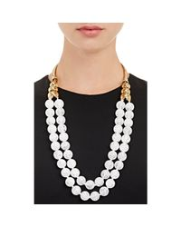 Aurelie Bidermann - Metallic Oversized Beaded Collar Necklace - Lyst