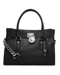 Michael Kors | Black Michael Hamilton Leather Satchel | Lyst