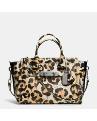 COACH Multicolor Swagger In Wild Beast Print Pebble Leather