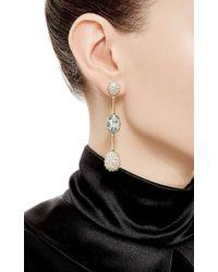Nicholas Varney - Multicolor One Of A Kind Blue Zircon And Diamond Baton Ear Pendants - Lyst