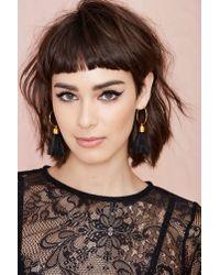 Nasty Gal - Black Suzywan Deluxe Andrea Hoop Earrings - Lyst