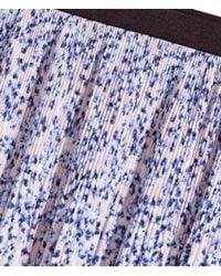 H&M Blue Pleated Skirt