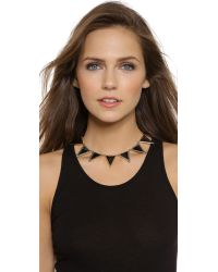 House of Harlow 1960 | Black Triangle Theorem Collar Necklace - Turquoise | Lyst