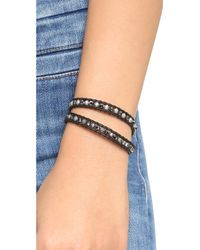 Chan Luu - Beaded Wrap Bracelet - Silver Night/natural Black - Lyst
