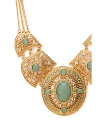 Forever 21 | Metallic Western Redux Faux Stone Necklace | Lyst