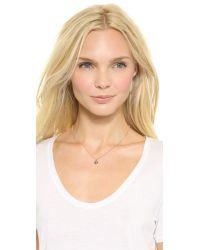 Katie Rowland Pink Java Mini Pendant Necklace Rose Gold Multi