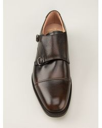 Church's Brown Double Monk Strap Shoes for men