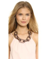 Kenneth Jay Lane | Gray Chain Link Necklace - Grey | Lyst