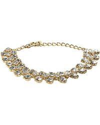 Dune | Jolie Diamante Trim Gold Metallic Bracelet - For Women | Lyst
