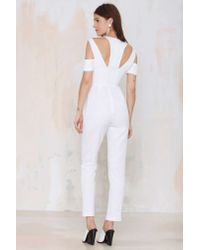 Nasty Gal | White Style Stalker Island Fever Twill Jumpsuit | Lyst