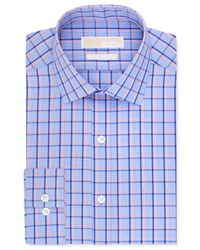 Michael Kors - Michael Non-Iron Slim-Fit Blue Bird Multi-Check Dress Shirt for Men - Lyst