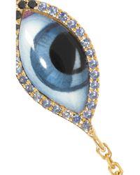 Lito - Blue Tu Es Partout 14-Karat Gold, Enamel And Multi-Stone Bracelet - Lyst