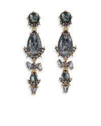 Alexis Bittar | Metallic Elements Prophecy Crystal & Pyrite Doublet Linear Earrings | Lyst