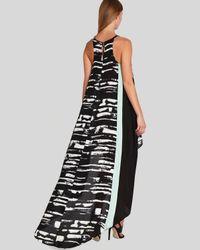 BCBGMAXAZRIA White Bcbg Max Azria Dress Malisa Color Block Print