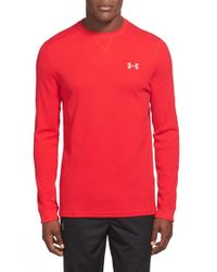 Under Armour | Red 'amplify' Thermal Long Sleeve T-shirt for Men | Lyst