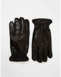 SELECTED   Black Leather Gloves for Men   Lyst