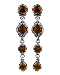 Konstantino | Metallic Sterling Silver 4 Tier Drop Earring | Lyst