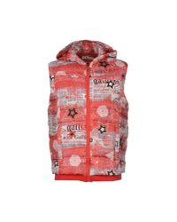 John Galliano Red Down Jacket for men