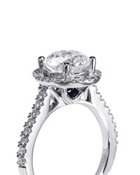 Vera Wang Love | Metallic Boutique Diamond and White Gold Engagement Ring | Lyst