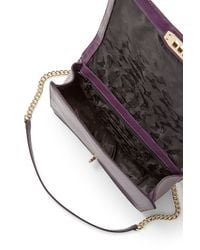 Rebecca Minkoff Purple Love Jumbo Shoulder Bag
