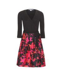 Diane von Furstenberg - Black Jewel Wrap Dress - Lyst