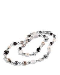 David Yurman - Metallic Bead Necklace With Black Onyx And Crystal - Lyst