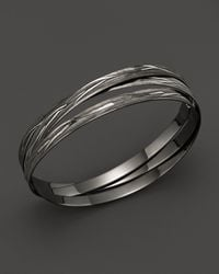 Roberto Coin | Metallic Ruthenium And Sterling Silver Bangle | Lyst