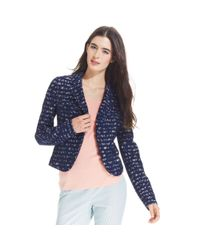 Maison Jules - Blue Striped Lace Blazer - Lyst