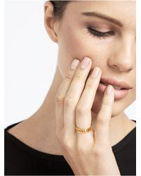 BaubleBar - Metallic Nameplate Ring - Lyst