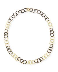 Armenta Blue Midnight & Yellow Gold Diamond Link Necklace