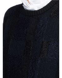 Alexander McQueen - Black Checkerboard Jacquard Mohair Knit Sweater - Lyst