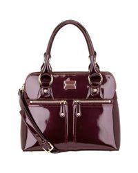 Modalu Purple Pippa Classic Small Grab Handbag