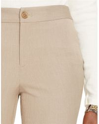 Lauren by Ralph Lauren | Natural Petite Stretch-twill Pant | Lyst
