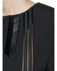 Thakoon Black Braided Neck Peplum Jacket
