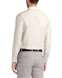 Ted Baker Natural Forever Plain Linen Shirt for men