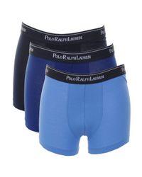 Ralph Lauren - Blue Underwear 3 Pack Boxer Shorts for Men - Lyst