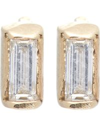 Loren Stewart | Metallic Baguette Diamond & Gold Studs | Lyst