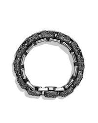 David Yurman - Waves Large Link Bracelet with Black Diamonds for Men - Lyst