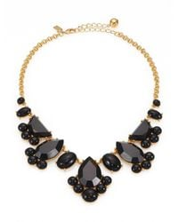 kate spade new york - Black Day Tripper Clustered Bib Necklace - Lyst