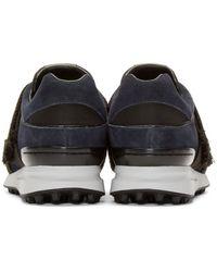 3.1 Phillip Lim - Blue Navy & Black Suede Low-top Trance Sneakers - Lyst